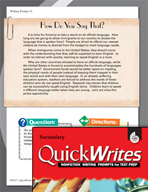 Four Quick Secondary Writing Prompts (Set 4)