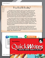 Four Quick Secondary Writing Prompts (Set 6)
