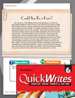 Four Quick Secondary Writing Prompts (Set 7)