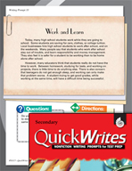 Four Quick Secondary Writing Prompts (Set 9)