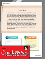 Four Quick Sixth Grade Writing Prompts (Set 12)