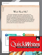 Four Quick Third Grade Writing Prompts (Set 12)