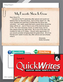 Four Quick Third Grade Writing Prompts (Set 3)