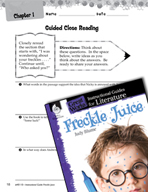 Freckle Juice Close Reading and Text-Dependent Questions (