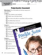 Freckle Juice Comprehension Assessment (Great Works Series)
