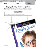 Freckle Juice Language Learning Activities (Great Works Series)