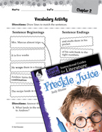 Freckle Juice Vocabulary Activities (Great Works Series)