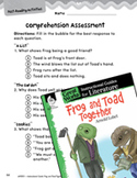 Frog and Toad Together Comprehension Assessment (Great Works Series)