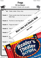 Frogs Reader's Theater Script and Lesson