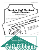 Gail Gibbons Literature Activities - Check It Out! The Book About Libraries