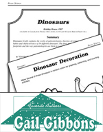 Gail Gibbons Literature Activities - Dinosaurs