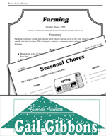 Gail Gibbons Literature Activities - Farming