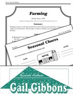 Gail Gibbons Literature Activities - Farming