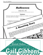 Gail Gibbons Literature Activities - Halloween