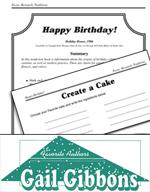 Gail Gibbons Literature Activities - Happy Birthday!