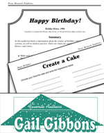 Gail Gibbons Literature Activities - Happy Birthday!