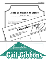 Gail Gibbons Literature Activities - How a House Is Built