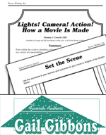 Gail Gibbons Literature Activities - Lights! Camera! Action! How a Movie Is Made