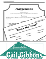 Gail Gibbons Literature Activities - Playgrounds