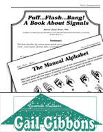 Gail Gibbons Literature Activities - Puff…Flash…Bang! A Book About Signals