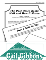 Gail Gibbons Literature Activities - The Post Office Book: Mail and How It Moves