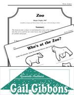 Gail Gibbons Literature Activities - Zoo