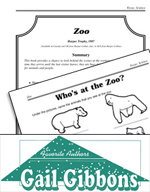 Gail Gibbons Literature Activities - Zoo
