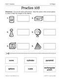 Geometry: 3-D Shapes Practice