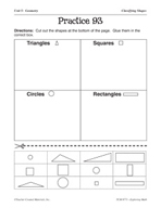 Geometry: Classifying Shapes Practice