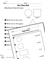 Geometry: Identifying Shapes Practice