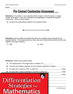 Geometry Learning Contracts - Understanding Geometric Constructions
