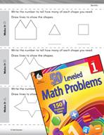Geometry Leveled Problem: 2-D Shapes - Make It