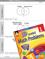 Geometry Leveled Problem: 2-D Shapes - Venn Diagram