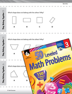Geometry Leveled Problems: Compare and Contrast Shapes