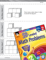 Geometry Leveled Problems: Count the Cubes in a Figure