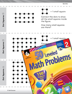 Geometry Leveled Problems: Count the Squares in an Array of Dots