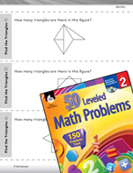 Geometry Leveled Problems: Count the triangles in a shape