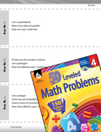 Geometry Leveled Problems: Draw Shapes