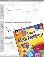 Geometry Leveled Problems: Identify and Compare Angles