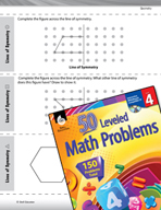 Geometry Leveled Problems: Lines of Symmetry
