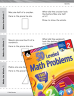 Geometry Leveled Problems: Pictorial Fractions and Wholes