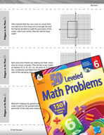Geometry Leveled Problems: Polygons on Coordinate Planes