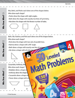 Geometry Leveled Problems: Shape Word Problems