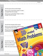 Geometry Leveled Problems: Tangram Shapes