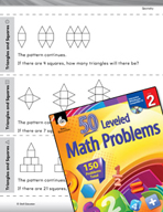 Geometry Leveled Problems: Triangles and Squares