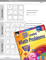 Geometry Leveled Problems: Using Clues to Find Shapes