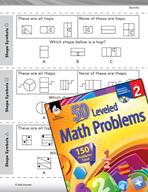 Geometry Leveled Problems: Using Shapes as Symbols