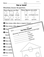 Geometry: Naming Parts of Shapes Practice