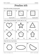 Geometry: Symmetry Practice