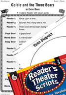 Goldie and the Three Bears Reader's Theater Script and Lesson